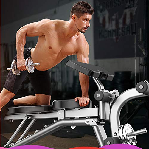 IJNUHB Fitnessbank Klappbar Multifunktion Training Fitness Bank Bauchtrainer Verstellbar Mit Hochwertigem Dickem Polster Ergonomisch Höhenverstellbar