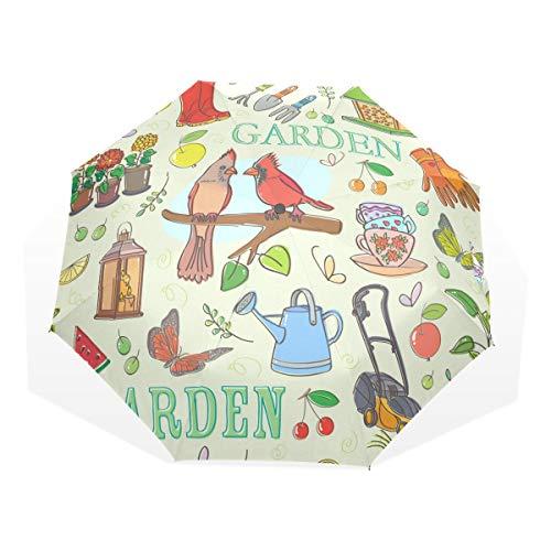 EZIOLY Garten-Set Reise-Regenschirm, leicht, UV-Schutz, Sonnenschirm für Herren, Frauen und Kinder, Winddicht, faltbar, kompakt