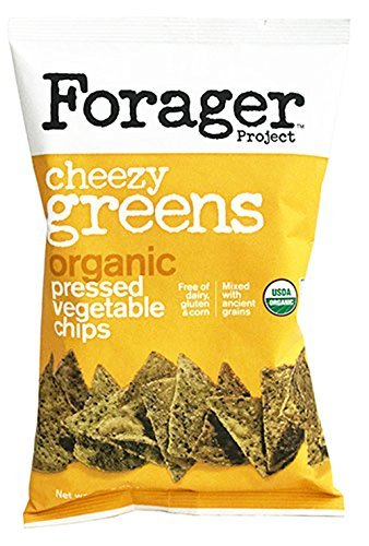 Forager Glueten Free Corn Free Organic Vegetable Chips 5oz (Cheezy Green) - Pack of 12