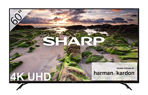 Sharp LC-60UI9362E - Smart TV Slim UHD de 60' (resolución 3840 x 2160, HDR+, Sonido Harman/kardon, 3X HDMI, 3X USB, Active Motion 800) Color Negro
