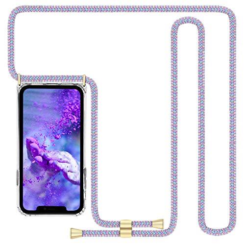 Imikoko Handykette Hülle für iPhone 11 Necklace Hülle mit Kordel zum Umhängen Silikon Handy Schutzhülle mit Band - Schnur mit Hülle zum umhängen (6.1