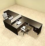 Two Person L Shaped Divider Office Workstation Desk Set, OT-SUL-FP40