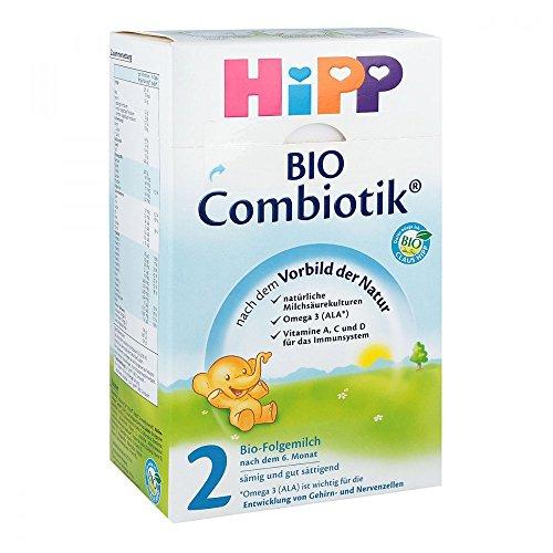 Hipp 2 Bio Combiotik 2032 600 g, Bio-Folgemilch nach dem 6. Monat
