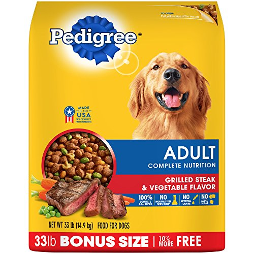 PEDIGREE Adult Complete Nutrition Grilled Steak & Vegetable Flavor Dry Dog Food 33 Pounds