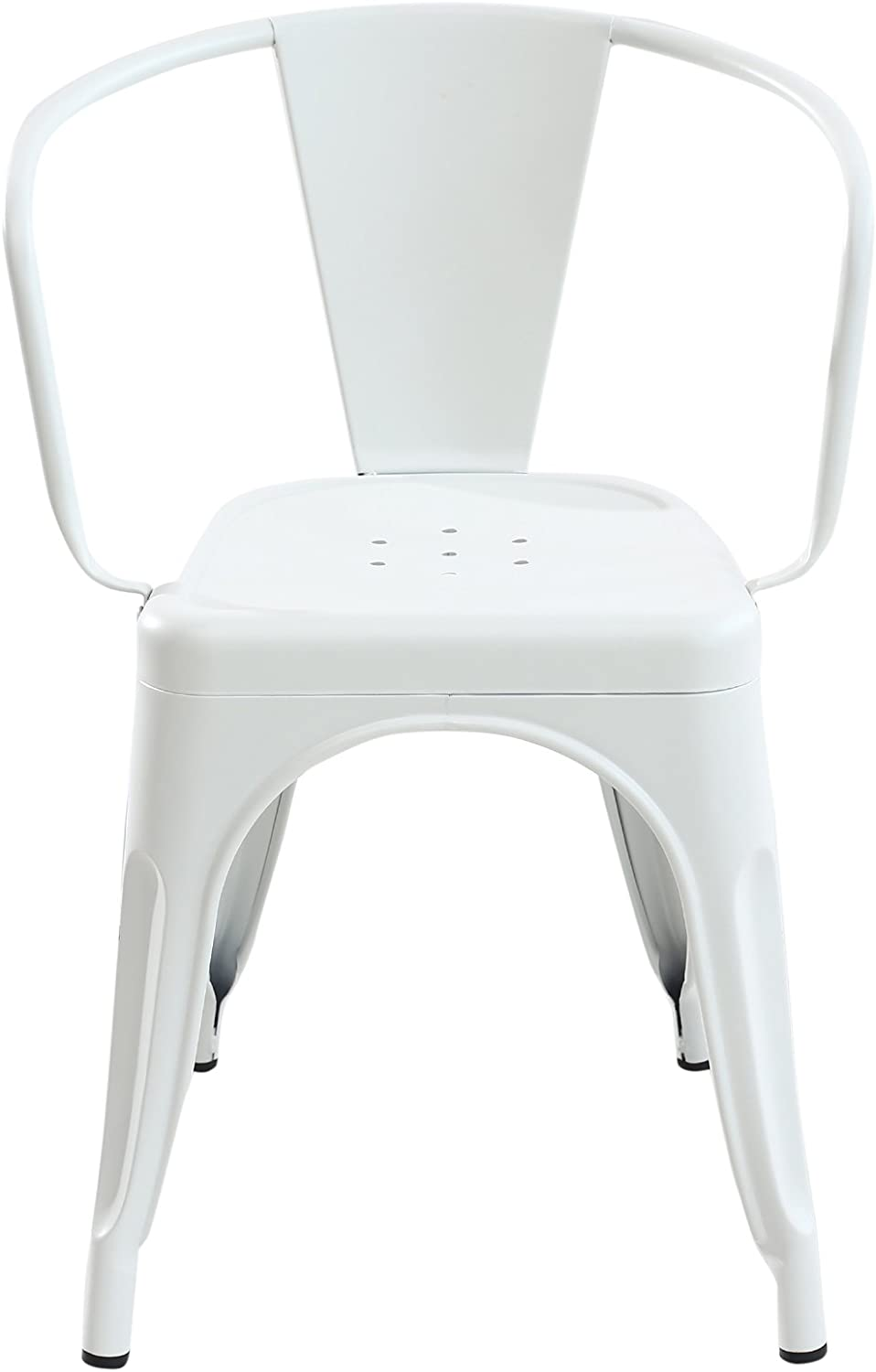 Poly and Bark Trattoria Arm Chair in White