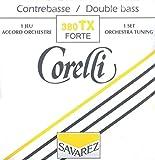 Cordes Corelli Contrebasse Accord d'orchestre Sol Nickel; Taille 1/4