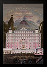 The Grand Budapest Hotel 28x36 Large Black Wood Framed Movie Poster Art Print