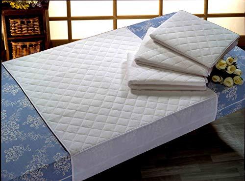 Empapador Superabsorbente Impermeable Transpirable 5 capas. Algodón (Blanco, 135X85 cm.)
