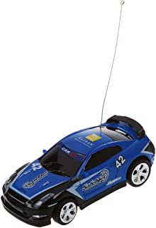 SODIAL Mini RC Remote Controlled Car Racing Car Toys in The Beverage can 1:58 (Blue) New