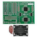 Seamuing Tablero de Práctica de Soldadura Kit de Soldadura Tablero de Entrenamiento de Habilidades de Soldadura SMD Componentes SMT Tablero de Práctica con Caja de Batería para Experimentos