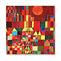 INOV ポール·クリー-キャッスルアンドサ 絵画 壁飾り アートパネル インテリア 壁キャンバス絵画 壁アート 木枠セット 横40cm*縦40cm