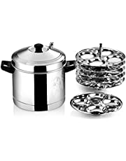 Butterfly Idli Cooker Set with 6 Plates