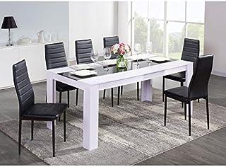Amazon.fr : table salle manger - Blanc