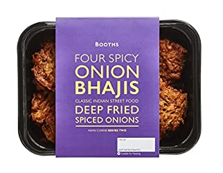 Booths Four Spicy Onion Bhajis, 160g