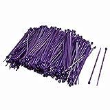 Move&Moving - Bridas ajustables de cierre automático para cables, de nailon, 2,5 x 100 mm, 500 unidades, color morado