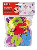 APLI - Bolsa formas EVA formas letras, 104 uds