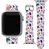 Lex Altern Band Compatible with Apple Watch Series 6 SE 5 4 3 2 1 38mm 40mm 42mm 44mm Replacement Strap for iWatch Crystal Bugs Cute Wristband Print Stylish Ladybug Moth Beetle Insects Thin wh054
