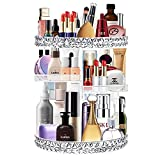 Ubitree Organizador de maquillaje Vitrina organizadora de cosméticos giratoria de 360 ° con 6 capas ajustables gran capacidad Caja de almacenamiento cosméticos para pincel de maquillaje lápiz labial