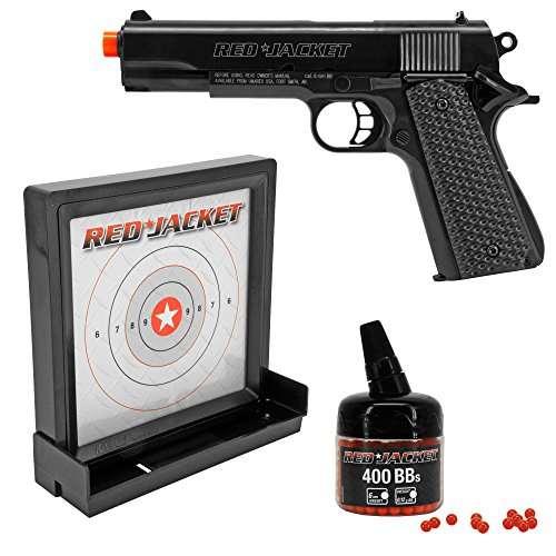 Red Jacket M1911 6mm Airsoft Spring Pistol Target Pack