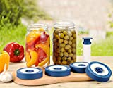 AXL Fermenting Wide Mouth Vacuum Lids for Mason Jars, Airtight, Airlock, Leak-Proof Seal and...