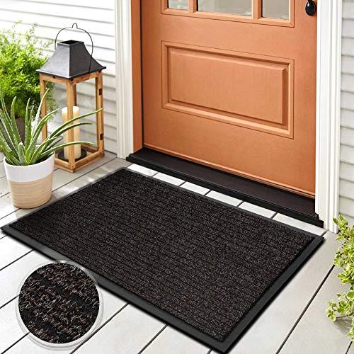 Floordirekt Schmutzfangmatte Dura | Robust & Strapazierfähig | In vielen Größen und Farben | rutschfeste Sauberlaufmatte für Innen und Außen (Braun, 100 x 150 cm)