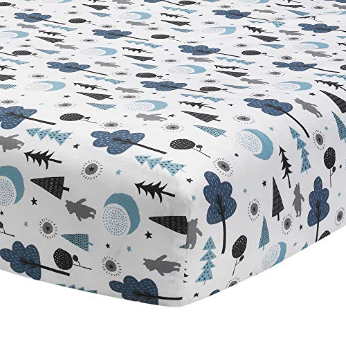 Lambs & Ivy Forever Pooh Fitted Crib Sheet, Multicol