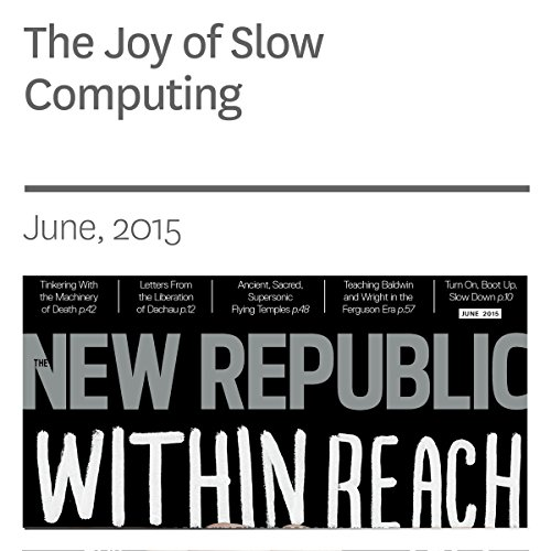 The Joy of Slow Computing audiobook cover art