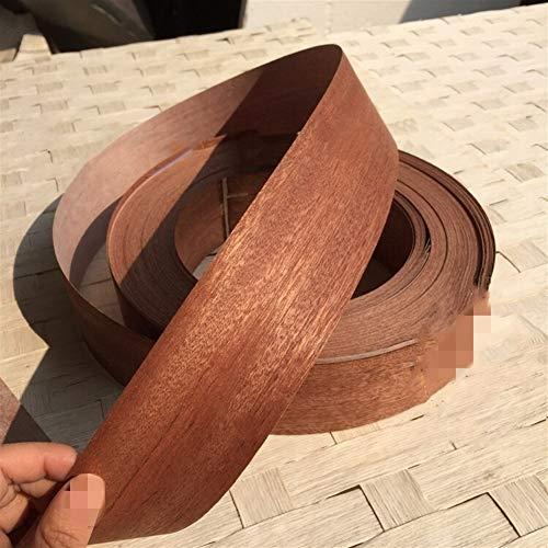 NO LOGO 1pc en Bois Naturel Sapele mélamine Bordures Banding Trimmer en Bois Bord Porte Bord Bande 5.5cm pli Transversal x 2.5m (Couleur : Sapele, Taille : 5.5cm x 2.5meters)