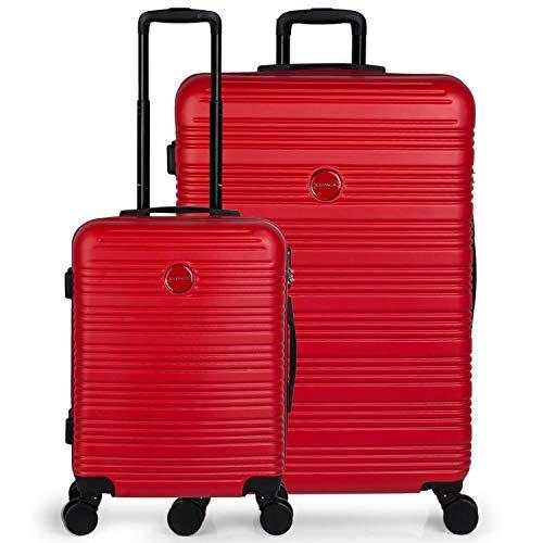 ITACA - Juego Maletas de Viaje 4 Ruedas Trolley abs. rígidas duras s Completas y Ligeras. 2 tamaños: pequeña Cabina y Grande. Calidad garantía y Bonito diseño....