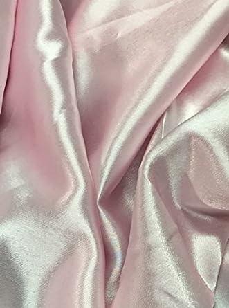 """1 MTR Satén Brillante Rosa Bebé Suave tejido de poliéster forro de peso ligero 58/"""" de ancho"""