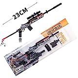 BYWL Mini14 Rifle de francotirador 1/3 de metal pistola de aleación de juguete de utilería para manualidades, figura de acción y arte llavero modelo de regalo