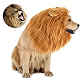 Dog Costume, Halloween Dog Costumes Lion Mane for Medium Large Dogs, Realistic Lion Wig Costumes for Dogs, Funny Dog Costumes Wig, Halloween Christmas Costumes for Dogs for Photoshoots Entertainment