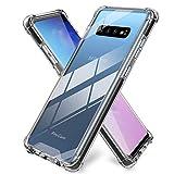 ProCase Funda Transparente Galaxy S10 Plus, Carcasa Híbrida Ultra Fina de TPU, Bumper Rugoso Antichoques con Esquinas Reforzadas para Samsung Galaxy S10 Plus 2019 –Negro
