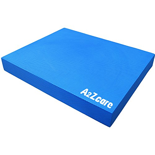 A2ZCARE Balance Pad - Super Soft Pad Provides A Non-Slip Textured Surface (Guideline Included) (Blue (Large))