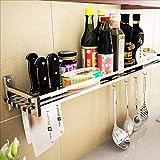 Storage rack Étagère de Cuisine Étagère à épices en Acier Inoxydable 304 Pendentif de Cuisine Murale Rangement et Rangement (Taille : 40cm)
