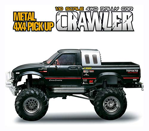 HomyDelight RC Car, HG P407 1/10 2.4G 4WD RC Car for TOYATO Metal 4X4 Pickup Truck Rock Crawler RTR Toy, Black