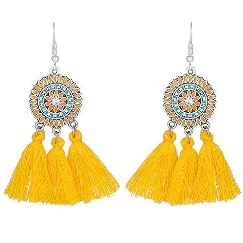 Great Price! Yellow Earrings, Sun Flowers, Tassel, Earrings, Girl Fashion, Earrings, Girlfriend, Wif...