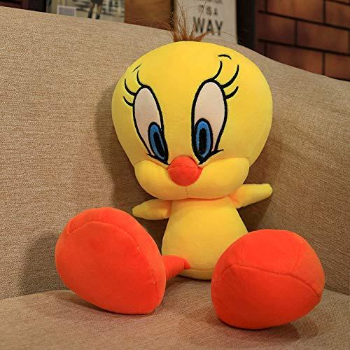 DOUFUZZ Tweety Vogel gelb Ente Plüsch Spielzeug Cartoon süße Ente gefülltpuppe weiche Tier Puppen Kinder Spielzeug Geburtstagsgeschenk 50cm Gelb