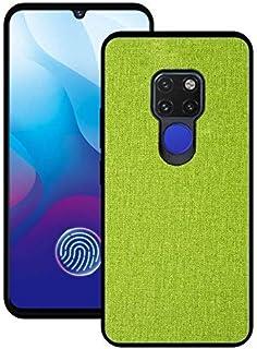 携帯電話アクセサリー華為メイト20/20メイトプロ、PUファブリック布スタイル2 1つのソフト側オールインクルーシブカバー電話のバックケースカバー(ブラック、サイズ:メイト20)内の電話ケース - グリーン、20メイト