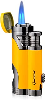 Butane Torch Lighter with Punch Windproof Double Flame Lighters High Quality Without Gas