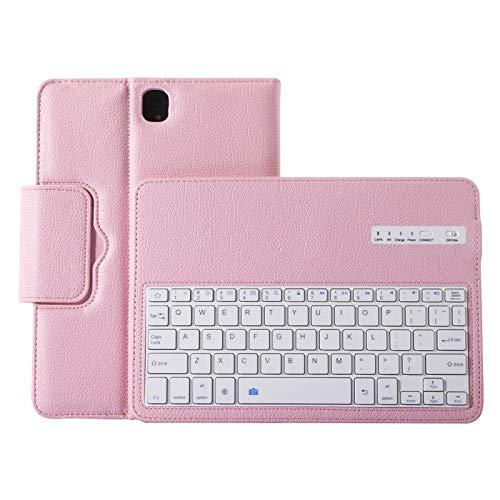 YANTAIAN Accesorios de tabletas para Samsung Galaxy Tab S3 9.7 / T820 2 en 1 Teclado Desmontable Bluetooth Litchi Textura Funda de Cuero con Soporte (Color : Rosado)
