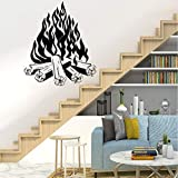 Nette Brennholz Vinyl Wallpaper Wandposter für Baby Kinderzimmer Dekor Wohnkultur 28X33Cm