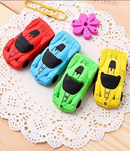 Crazy Night 10 Pcs Racing Car shaped Eraser for Pupils Kids School Office Stationary Kits(Car)