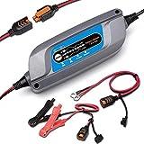 ERAYAK 12V 5A Chargeur de Batterie à 8-Etapes Charge Intelligent Automatiquement pour 120Ah Batterie au Plomb de Véhicule/Voiture/Moto/Tondeuse/Batterie AGM et Gel