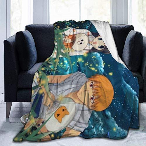 HFGV Mantas para Cama Anime Firefly Manta de Felpa 50x40 Pulgadas Manta Suave y cálida para sofá Cama Sala de Estar