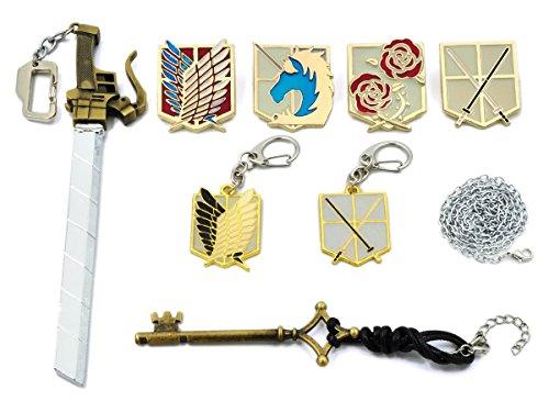 CoolChange caja de colección para joyas de Ataque a los Titanes con 2