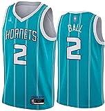 Movement Ropa Jerseys de Baloncesto para Hombres, NBA Charlotte Hornets # 2 Lamelo Ball - Chaleco Transpirable Suelto Uniformes Classic Comfort Camiseta sin Mangas Tops(Size:/S,Color:G1)