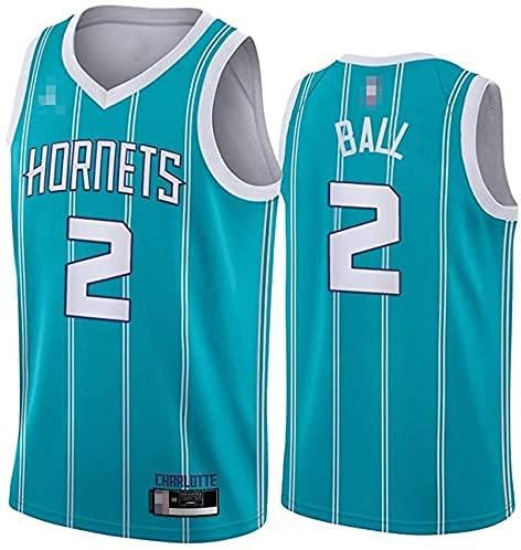 Jerseys Ropa Baloncesto para Hombres, NBA Charlotte Hornets # 2 Lamelo Ball - Chaleco Transpirable Suelto Uniformes Classic Comfort Camiseta sin Mangas Tops(Size:/L,Color:G1)