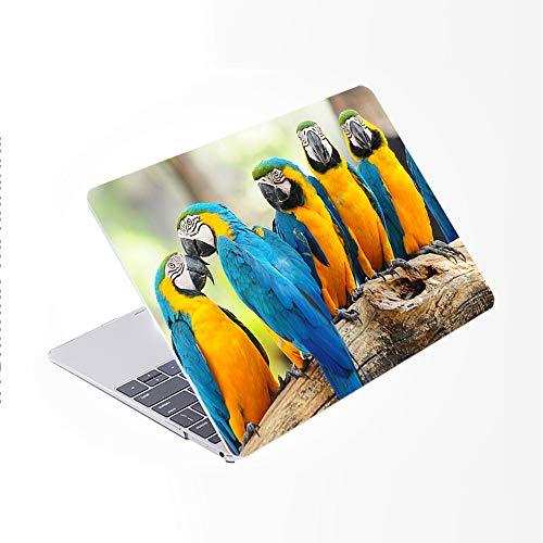 SDH Funda para MacBook Air de 13 pulgadas 2020 liberación A2179 con retina, funda de ordenador portátil y cubierta de teclado para MacBook Air 13 con Touch ID, Cute Parrot 7