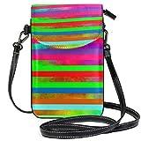 QQIAEJIA Rainbow Spectrum Abstract Creative Monedero del teléfono celular Wallet for Women Girl Bolsos tipo cartera pequeños
